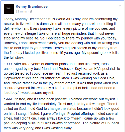 Kenny Brandmuse Discloses His HIV Status, Gives Soul Lifting Message (1/6)